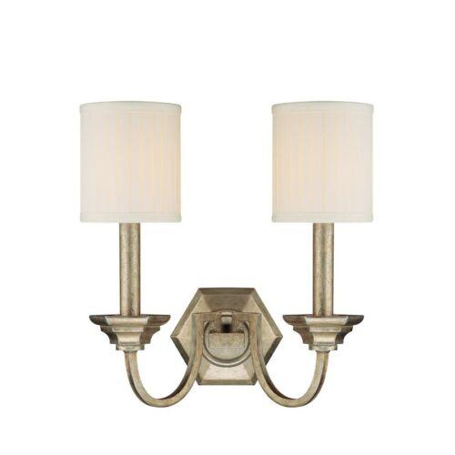 Capital Lighting Fifth Avenue 2 Light Sconce 1987WG-484 Winter Gold