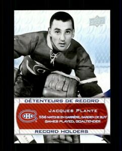 2008-09-Upper-Deck-Montreal-Canadiens-Centennial-246-Jacques-Plante-ref-97973