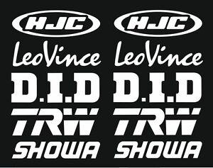 Hjc Leo Vince Showa Motorsport Sponsoren Aufkleber Racing Set Fur