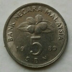Second Series 5 sen coin 1989