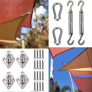6 In Square Triangle Sun Shade Sail Stainless Steel Hardware