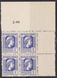 N-645-5Frs-BLEU-VIOLET-TYPE-MARIANNE-D-039-ALGER-EN-BLOC-DE-4