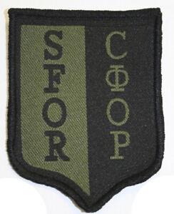 Militare-Bosnia-Toppa-Sfor-Nato-Stabilizzazione-Force-Verde-Nero-Tenue-Originale
