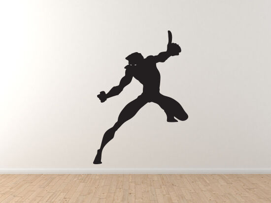 Comic Book Style - Super Hero Silhouette Power Version 5 -  Vinyl Wall Decal