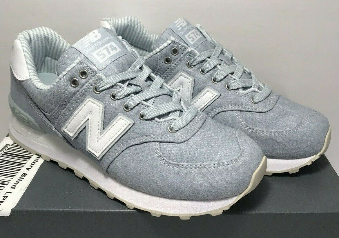New Balance Womens Size 7 574 Running Light Porcelain bluee White shoes WL574CHF