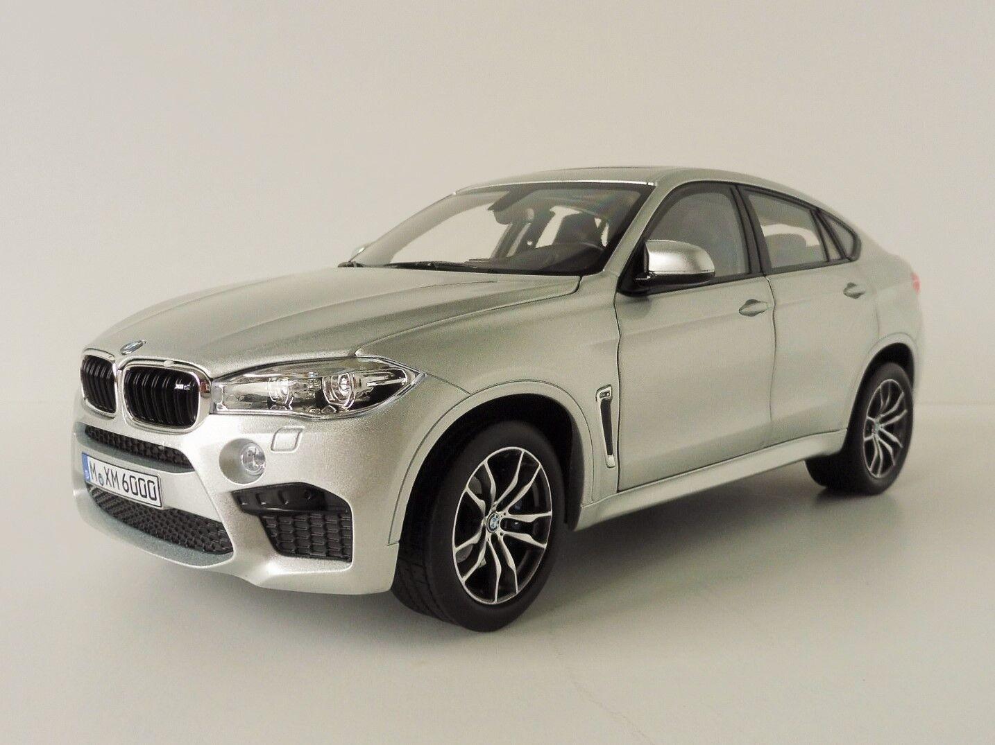 BMW X6 M 2015 silver 1 18 Norev 183200 Sac SUV F16