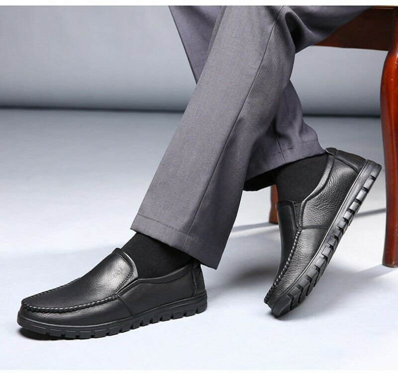 Mens Hollow Out Breathable Flats shoes Slip On Summer New Faux Leather shoes