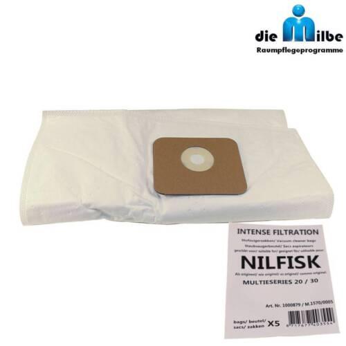 10-20-30 Vlies Staubsaugerbeutel passend für Nilfisk Multi 30 INOX Multi 30T