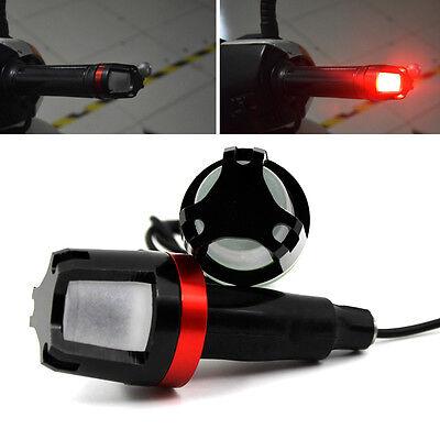 Motorcycle Handlebar Turn Signal Grip Bar End LED Plug Strobe Side Marker Light
