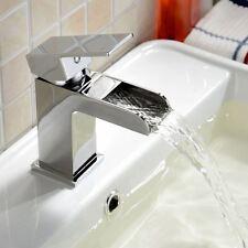Ozono Quadrato Cascata Bagno Bacino lavandino MONO MIXER rubinetto cromato