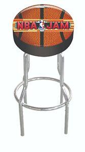 Arcade1up-Adjustable-Stool-Arcade-1UP-Vinyl-Chrome-Shop-Stool-NBA-JAMZ-Retro