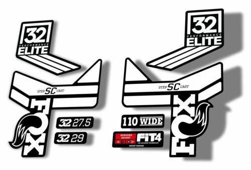 FOX 32 Step Cast SC Elite Performance Fork Suspension Decals Stickers Black