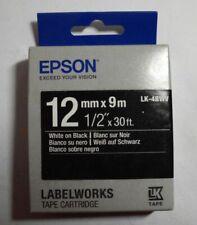 Epson  Tape Cartridge 6mmx9m black on red LK-2RBP Labelworks LW 300 OVP  A