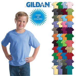 3-Pack-Gildan-Plain-Children-Kids-T-Shirts-Short-Sleeve-Blank-Shirts