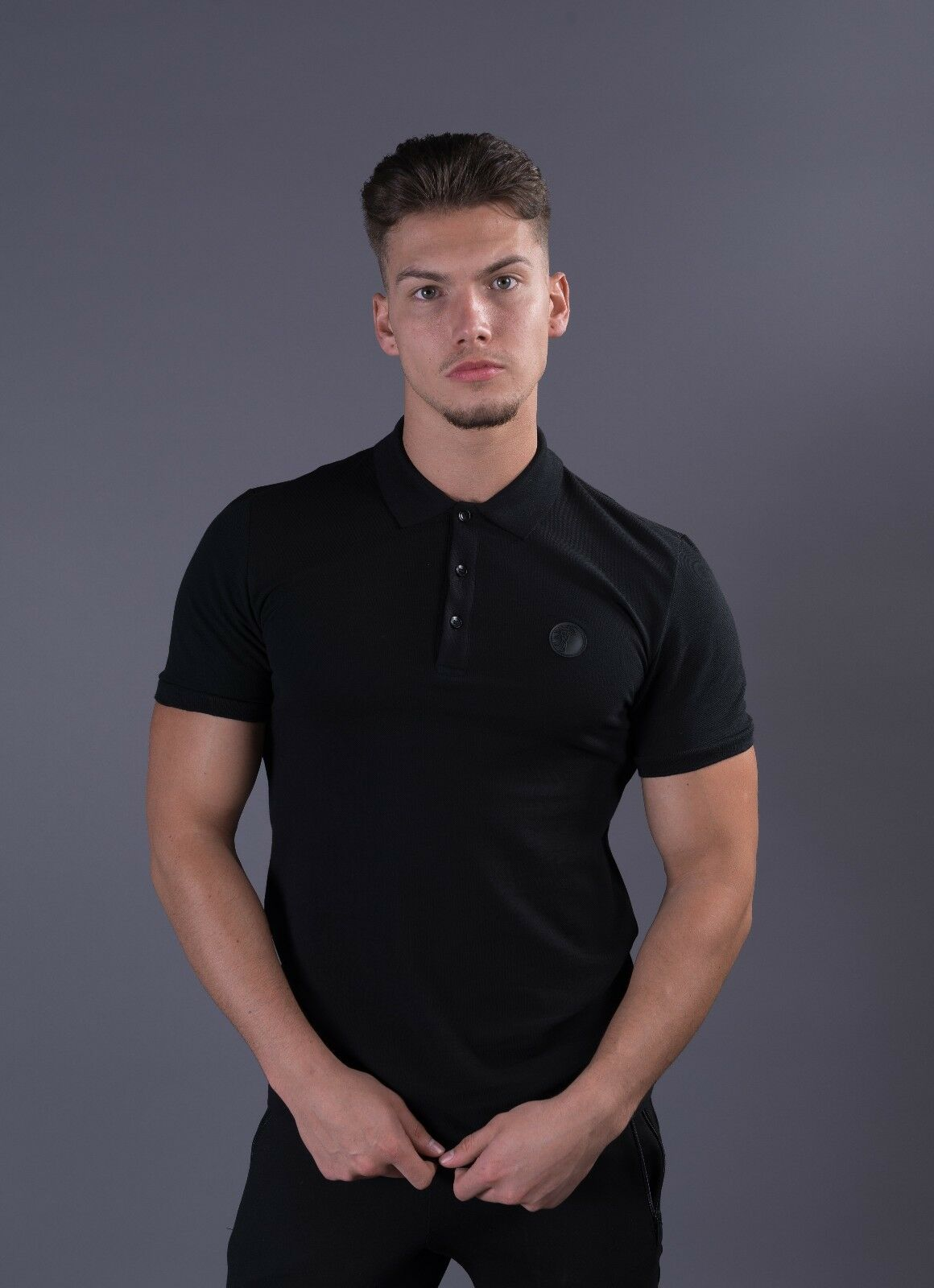 Genuine men's Vesace Collection Baroque print polo shirt V800634S-VJ00068-V10008