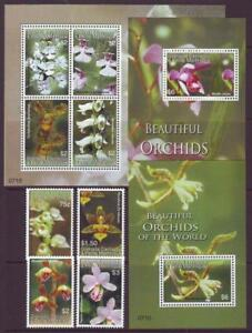 CARRIACOU-GRENADA-2008-ORCHIDS-SET-4-SHEETLET-2-M-SHEETS-MINT-NEVERHINGED