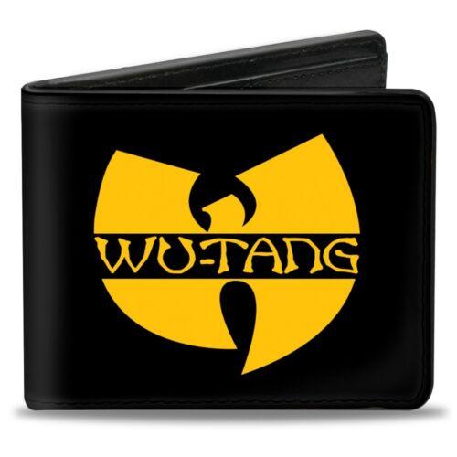 Bi-Fold Wallet WU-TANG Logo Black//Gold