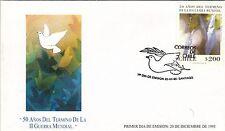 Chile 1995 FDC 50 años del Termino de la Segunda Guerra Mundial WWII