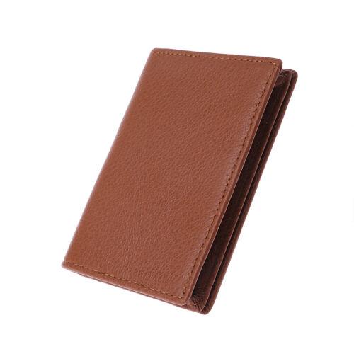 Men Women Leather Business ID Credit Card Wallet Holder Pocket Case Organizer