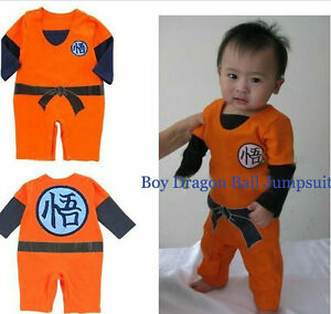 4d04985a5daf7 LONG SLEEVES Dragonball Z Son Goku KungFu Baby Bodysuit Party ...