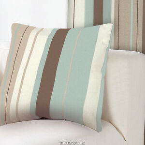 DESIGNER-CUSHION-COVER-DUCK-EGG-BLUE-amp-BROWN-17-x-17-43cm-Next-day-dispatch