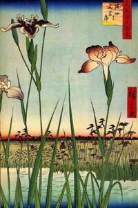 Utagawa-Hiroshige-Horikiri-Iris-Garden-Art-Print-Poster-24x36-inch