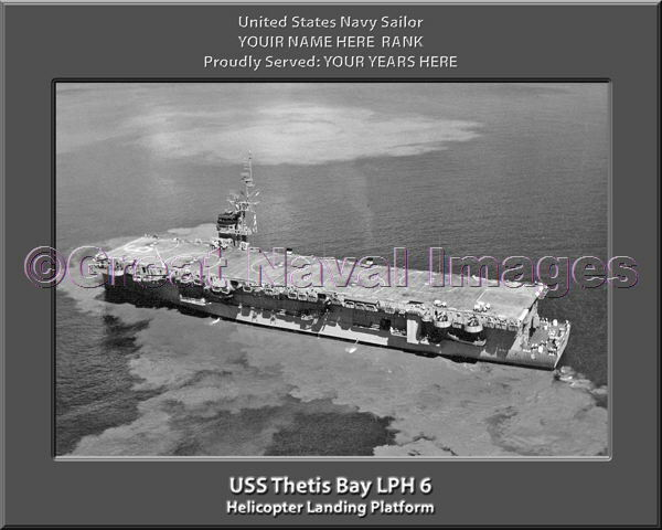 USS Thetis Bay LPH 6 Personalized Canvas Ship Photo Print Navy Veteran Gift