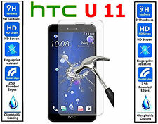 Genuine 100% TEMPERED GLASS Ultra HD Screen Protector Cover For HTC U 11 HTC U11