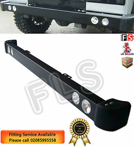 STEEL-FRONT-BUMPER-LED-DRL-amp-SPOT-LIGHTS-amp-RUBBER-CAPS-FOR-LAND-ROVER-DEFENDER