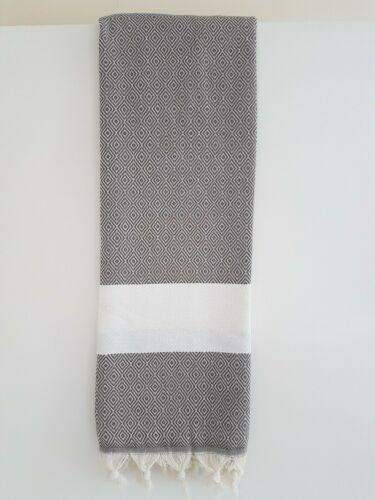 Diamond Turkish Peshtemal Towel 100/% Cotton Sauna Spa Gym Bath Beach 100x180cm