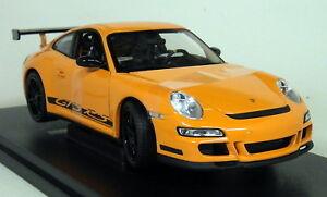 Nex-1-18-Scale-18015W-Porsche-911-997-GT3-RS-Orange-Black-Diecast-model-car