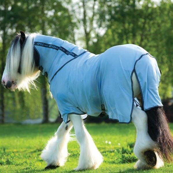 Horseware amigo bug Rug XL-Azure azul with Gunmetal & azulbell-moscas manta