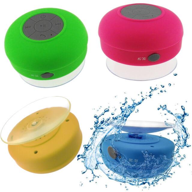Waterproof Bluetooth Wireless Speaker Handsfree Mic Suction Car Shower AU Stock