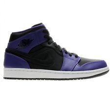 Nike Air Jordan 1 Mid Nouveau Black / Dark Concord  Suede Leather Sz 10.5