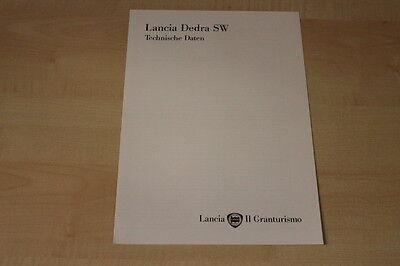 78145) Lancia Dedra + Sw - Technische Daten - Prospekt 04/1996 Rabatte Verkauf