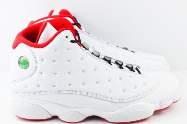 Nike Air Jordan 13 Retro Mens Size 18 Shoes 414571 103 White History Of Flight