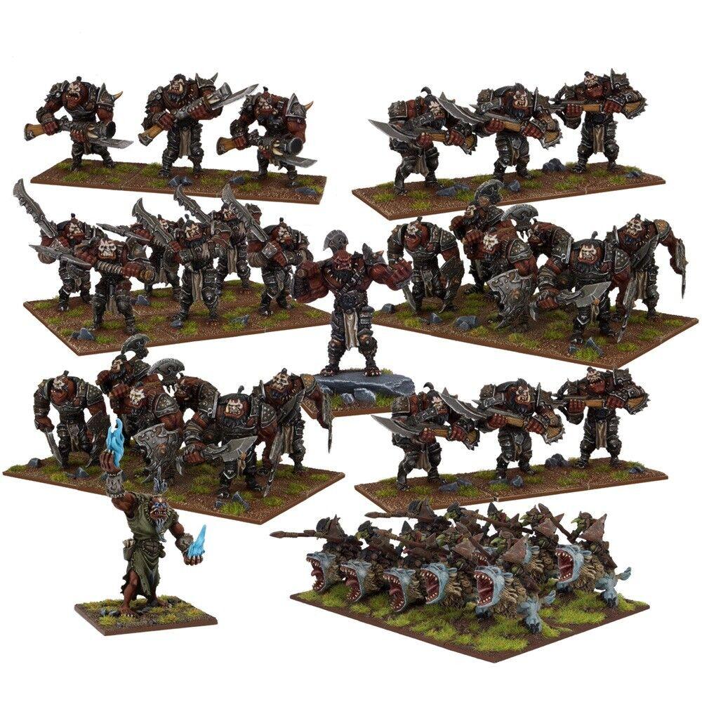 Mantic Kings of War- Ogre Mega Army 28mm fantasi Miniatyurs Oförtjänta