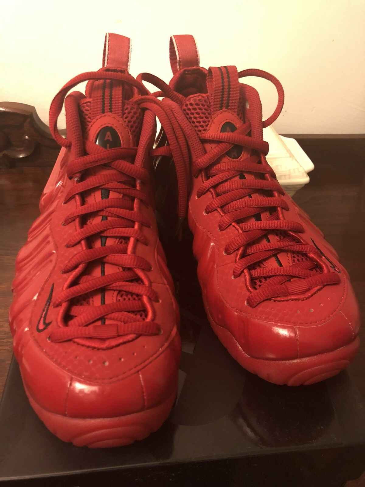 Nike Air Foamposite Pro Red October Yeezy Solar Red He Got Game Bred 7