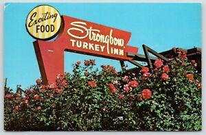 Valparaiso-Indiana-Rose-Society-Sign-Closeup-of-Strongbow-Turkey-Farm-amp-Inn-1956