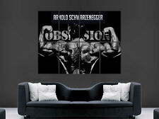 ARNOLD SCHWARZENEGGER POSTER ARNIE ABSTRACT GYM CONQUER BODYBUILDING FITNESS