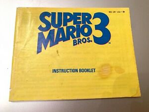Super-Mario-Bros-3-Brothers-III-NES-Nintendo-Instruction-Manual-Guide-Book-Only