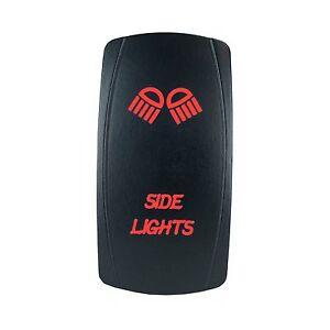 Rocker Switch Laser SIDE LIGHTS Dual led RED 12V marine boat car