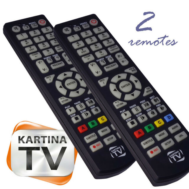 2 pcs KARTINA TV / DUNE HD ORIGINAL BRAND NEW REMOTE CONTROL