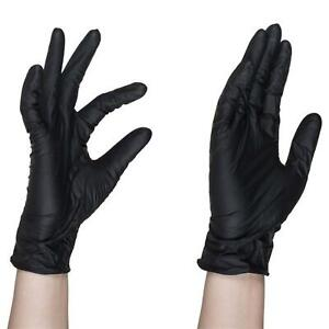 Strong-Nitrile-Vinyl-Glove-Powder-Free-Latex-Transparent-Gloves-Food-UK-Black