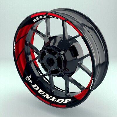 """Alarm Felgenaufkleber Motorrad Premium Wheelsticker Wheelskins """"dunlop V1"""" Hot Sale 50-70% Korting"""