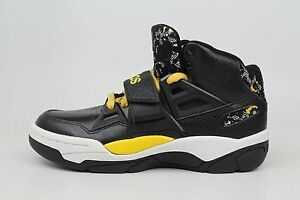 huge selection of 3a8f0 45b7b Image is loading Adidas-Originals-Mutombo-TR-Block-Black-Yellow-White-