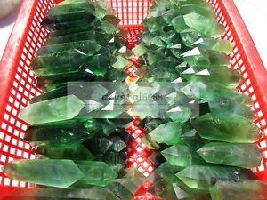1000g-NATURAL-Green-Fluorite-QUARTZ-CRYSTAL-WAND-POINT-HEALING-10-13pcs