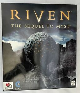 Myst & Riven: The Sequel to Myst (Windows/Mac, 1997) PC Game Complete Big Boxes