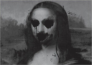 Gothic Mona Lisa Large Poster Art Print Black /& White in Card or Canvas