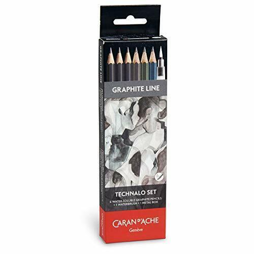 Caran d/'Ache Water-Soluble Technalo Graphite 7 Piece Pencil Set 779.307